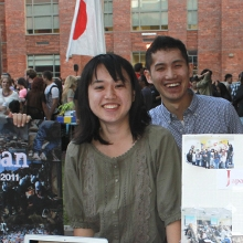Students table for Hope for Japan