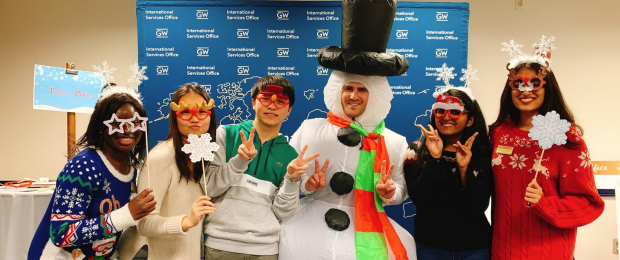 International Students at ISO Happy Holidays Event