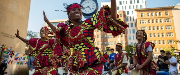 West African Dance Performance at Kogan Plaza